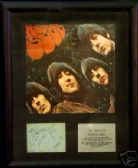 THE BEATLES RUBBER SOUL  -   Framed LP Cover